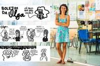 A ilustradora Thaïs Gualberto suas últimas tirinhas publicadas