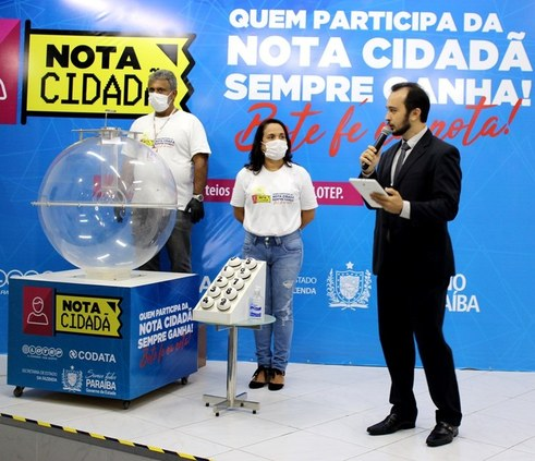 Governo da Paraíba realiza 4º sorteio da Nota Cidadã com transmissão on-line